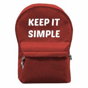 Plecak z przednią kieszenią Keep it simple