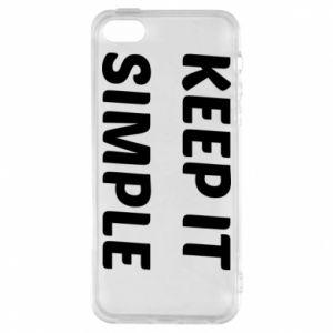 Etui na iPhone 5/5S/SE Keep it simple