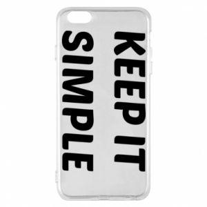 Etui na iPhone 6 Plus/6S Plus Keep it simple