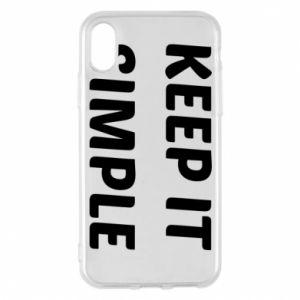 Etui na iPhone X/Xs Keep it simple