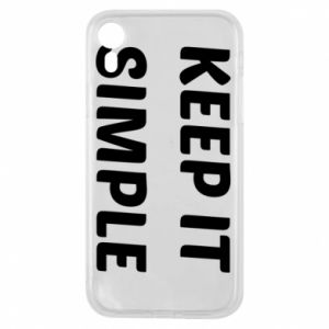Etui na iPhone XR Keep it simple