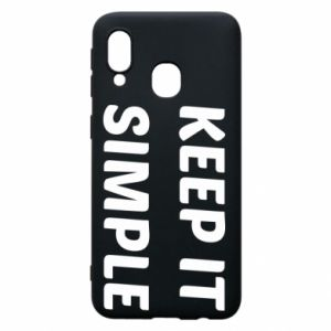 Etui na Samsung A40 Keep it simple