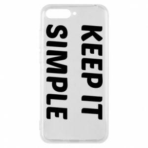 Etui na Huawei Y6 2018 Keep it simple
