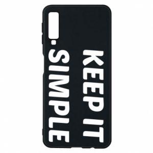 Etui na Samsung A7 2018 Keep it simple