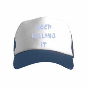 Czapka trucker dziecięca Keep killing it