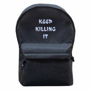 Plecak z przednią kieszenią Keep killing it