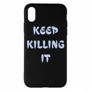Etui na iPhone X/Xs Keep killing it