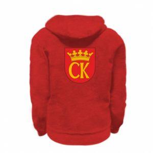 Kid's zipped hoodie % print% Kielce coat of arms