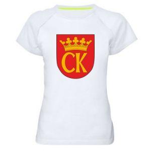 Women's sports t-shirt Kielce coat of arms