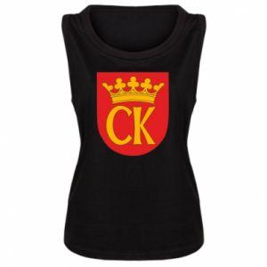 Damska koszulka bez rękawów Kielce herb