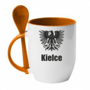 Kubek z ceramiczną łyżeczką Kielce - PrintSalon