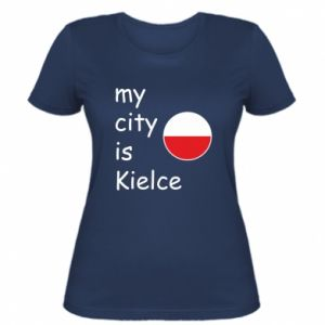 Women's t-shirt My city is Kielce