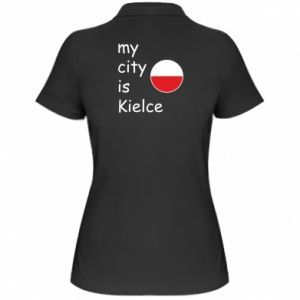 Women's Polo shirt My city is Kielce