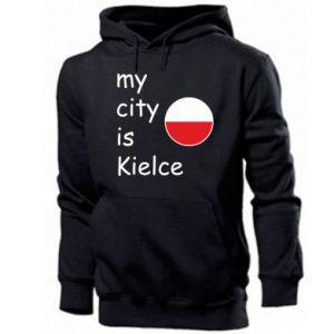 Męska bluza z kapturem My city is Kielce