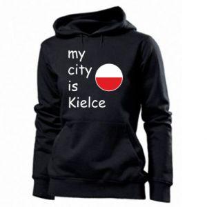 Women's hoodies My city is Kielce
