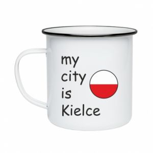Enameled mug My city is Kielce