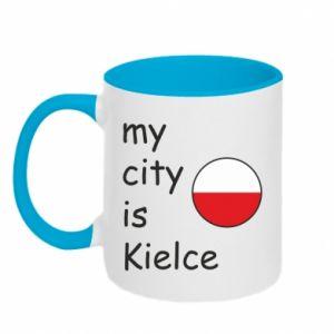 Kubek dwukolorowy My city is Kielce