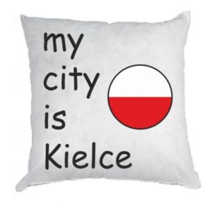 Pillow My city is Kielce