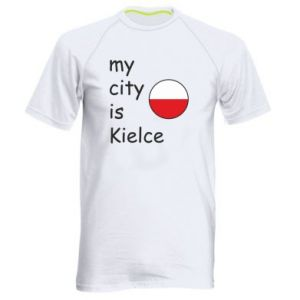 Men's sports t-shirt My city is Kielce