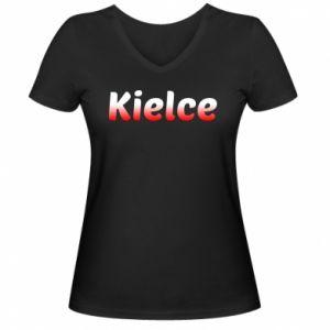 Damska koszulka V-neck Kielce