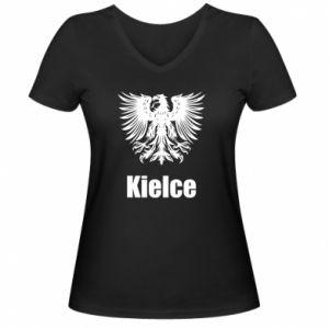 Damska koszulka V-neck Kielce - PrintSalon