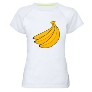 Women's sports t-shirt Bunch of bananas