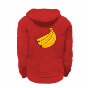 Kid's zipped hoodie % print% Bunch of bananas
