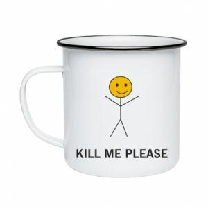 Kubek emaliowane Kill me please