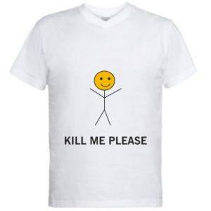 Męska koszulka V-neck Kill me please