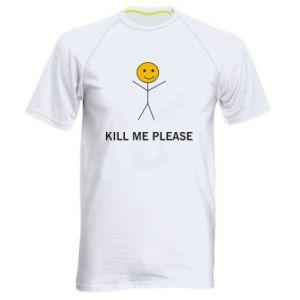 Męska koszulka sportowa Kill me please