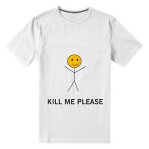 Męska premium koszulka Kill me please