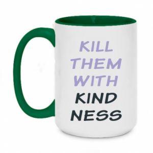 Kubek dwukolorowy 450ml Kill them with kindness