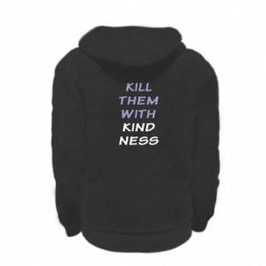 Bluza na zamek dziecięca Kill them with kindness