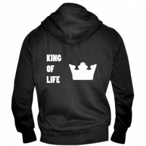 Męska bluza z kapturem na zamek King of life