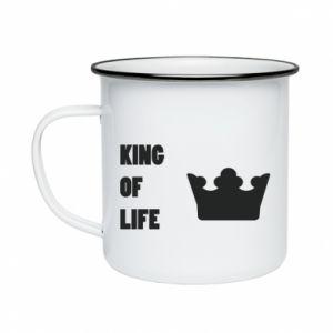 Kubek emaliowany King of life