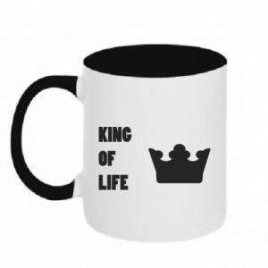 Kubek dwukolorowy King of life