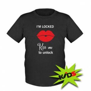 Dziecięcy T-shirt Kiss me to unlock