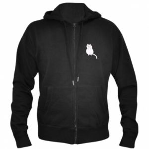 Men's zip up hoodie Kitten underling - PrintSalon
