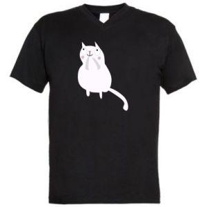 Men's V-neck t-shirt Kitten underling