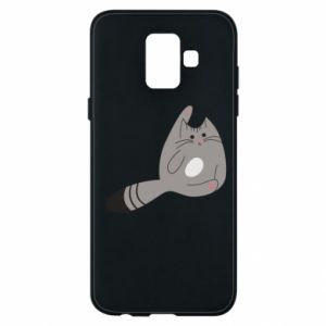 Etui na Samsung A6 2018 Kitty in a funny pose