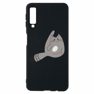 Etui na Samsung A7 2018 Kitty in a funny pose