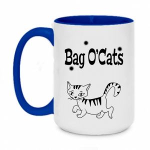 Two-toned mug 450ml Kitty