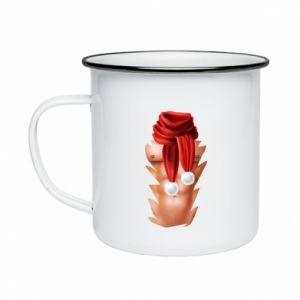 Enameled mug Santa's Chest