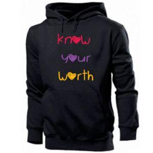 Męska bluza z kapturem Know your worth