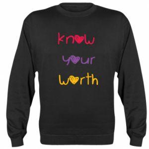 Bluza (raglan) Know your worth