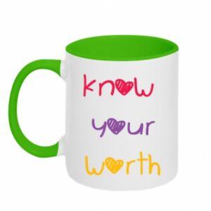 Kubek dwukolorowy Know your worth