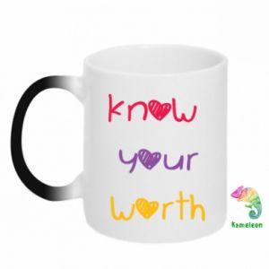 Kubek-kameleon Know your worth