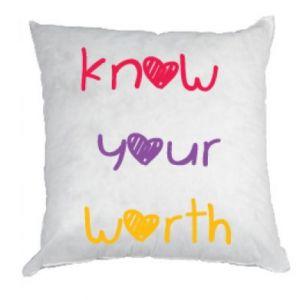 Poduszka Know your worth