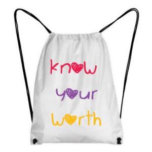 Plecak-worek Know your worth