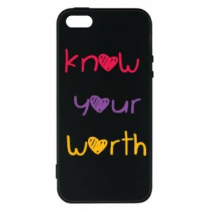 Etui na iPhone 5/5S/SE Know your worth